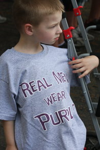 Real Men Wear Purple At The Relay For Life Of Plainville T-Shirt Photo