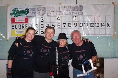 Those About To Rock! Curling Team T-Shirt Photo