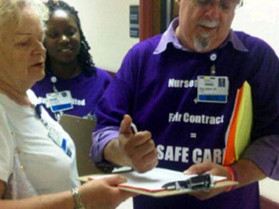 Nurses United For A Fair Contract! T-Shirt Photo