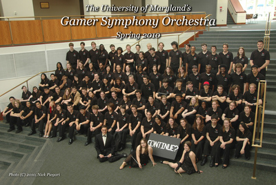 Gamer Symphony Orchestra Spring 2010 Group Portrait T-Shirt Photo