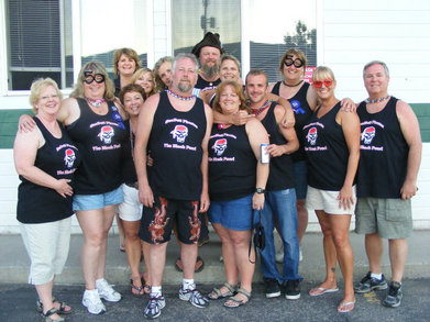 "The Crew Of ""The Black Pearl""  Yellowstone Boat Float 2010 T-Shirt Photo"