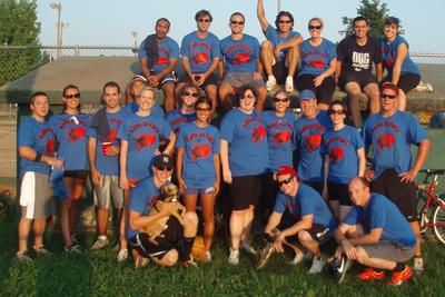 Balls Of Fury Kickball Team T-Shirt Photo