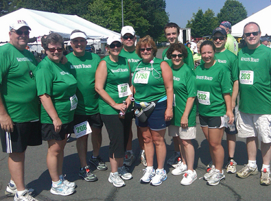 Kevin's Team At The Ge/Petit Family 5 K Road Race T-Shirt Photo