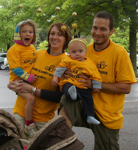 Kismet's Littlest Kidney Bees At The Albany Kidney Walk T-Shirt Photo
