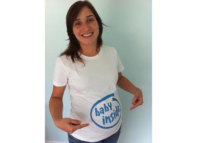 Baby Inside T-Shirt Photo