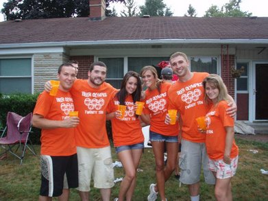 Orange Team Of Beer Olympics T-Shirt Photo