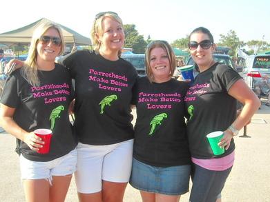 Parrotheads Make Better Lovers T-Shirt Photo