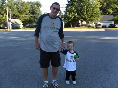 Papa & Jj In Als Walk 4 Life T-Shirt Photo