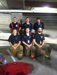 Novfd Before The 9 11 Memorial 110 Story Stair Climb T-Shirt Photo