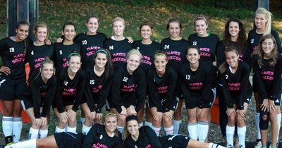 Soccer Team Supporting Cancer T-Shirt Photo