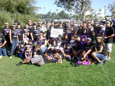 Purple Crusaders Lupus Walk 2010 Team Picture T-Shirt Photo