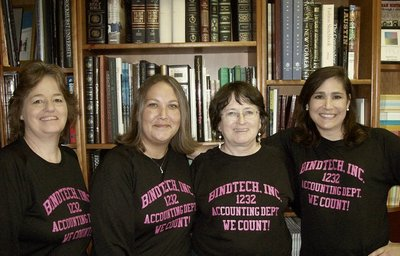 Bind Tech Accounting Dept.   We Count! T-Shirt Photo