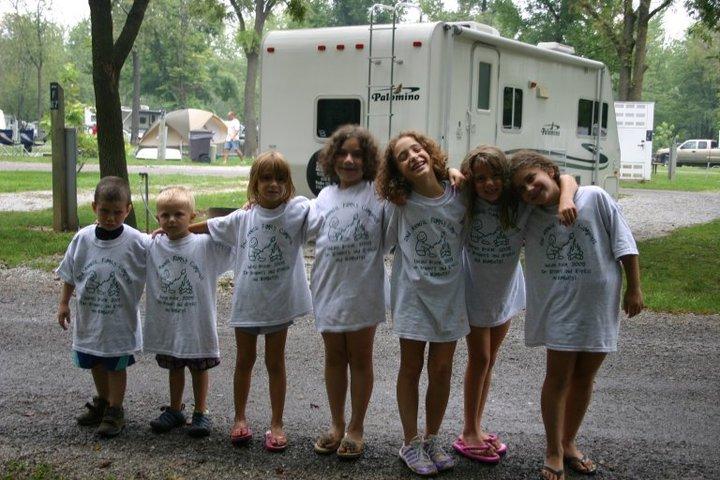 Family Camping At Indiana Beach T-Shirt Photo