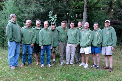 High School Guys Weekend In The Woods T-Shirt Photo