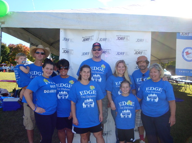Edge Out Diabetes Team T-Shirt Photo