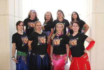 Indigo Rose Belly Dancers T-Shirt Photo