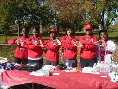 Stomping Out Childhood Obesity Walk/Run (Delta Sigma Theta) T-Shirt Photo