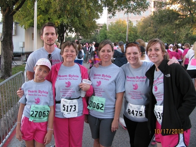 Team Sylvie   Race For The Cure 2010 T-Shirt Photo
