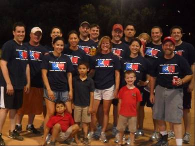 Our Kickball Team (Plus A Few Fans) T-Shirt Photo