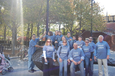 Team Steve Walking To Beat Lung Cancer T-Shirt Photo