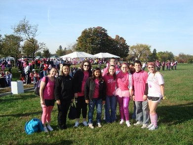 Au's Colleges Against Cancer At Making Strides!! T-Shirt Photo