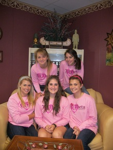 Tri Theta Girls Rockin' Their Pink Custom Ink Club Shirts! T-Shirt Photo