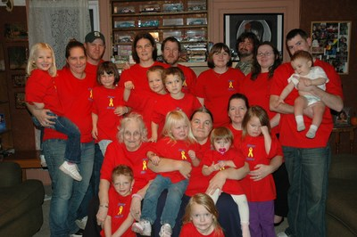 4 Generations Supporting Homer Heroes T-Shirt Photo