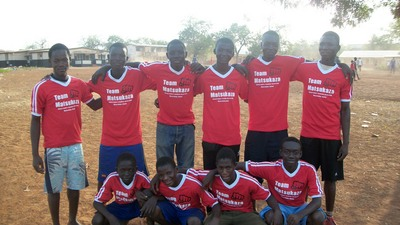 Soccer Team In Tamale , Ghana West Africa T-Shirt Photo