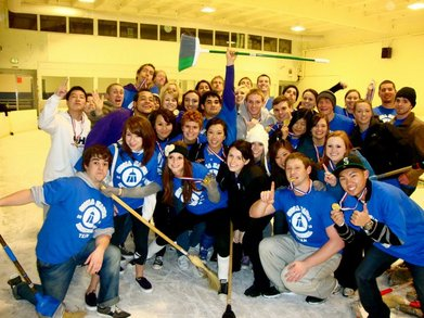 Broomball T-Shirt Photo