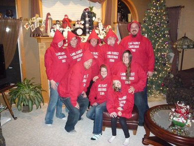 Lang Family Christmas T-Shirt Photo