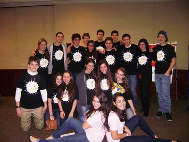 Youth Group Volunteering At Purim Carnival T-Shirt Photo
