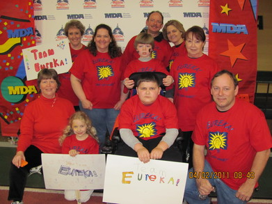 Team Eureka !  Mda Muscle Walk 2011 T-Shirt Photo