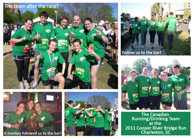 The Canadian Running/Drinking Team At The 2011 Crbr T-Shirt Photo