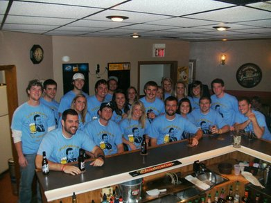 B B B Broooski's Bar Crawl T-Shirt Photo