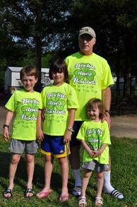 Family Cheers For Big Sister Beckie Running Boston Marathon T-Shirt Photo