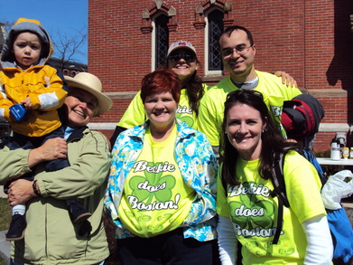 Boston Marathon Cheering Squad For Beckie! T-Shirt Photo