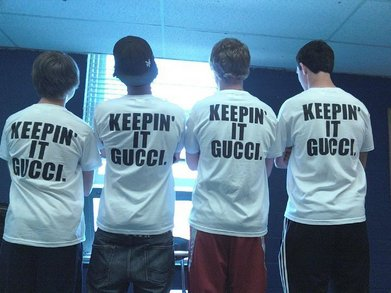 Keepin' It Gucci. T-Shirt Photo