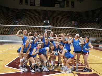 Vt Volleyball Flexing In Our Relay For Life Shirts T-Shirt Photo