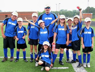 Blue Thunder Soccer Team T-Shirt Photo