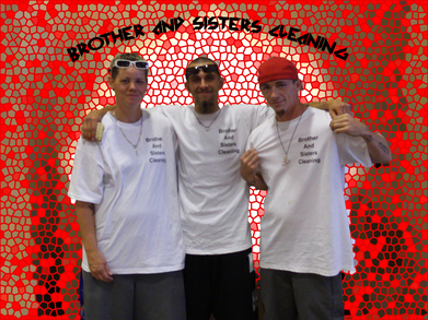 Brother And Sisters Cleaning Crew T-Shirt Photo