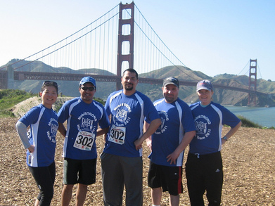 Mobi Strong Crew @ Golden Gate Bridge T-Shirt Photo