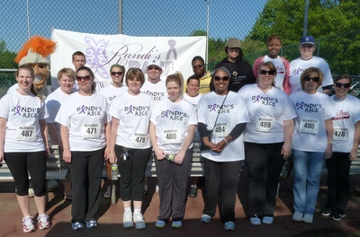Randi's Race Group Photo Of Knights Against Domestic Violence T-Shirt Photo