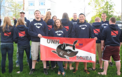 Unh Scuba Club Dry And Warm T-Shirt Photo