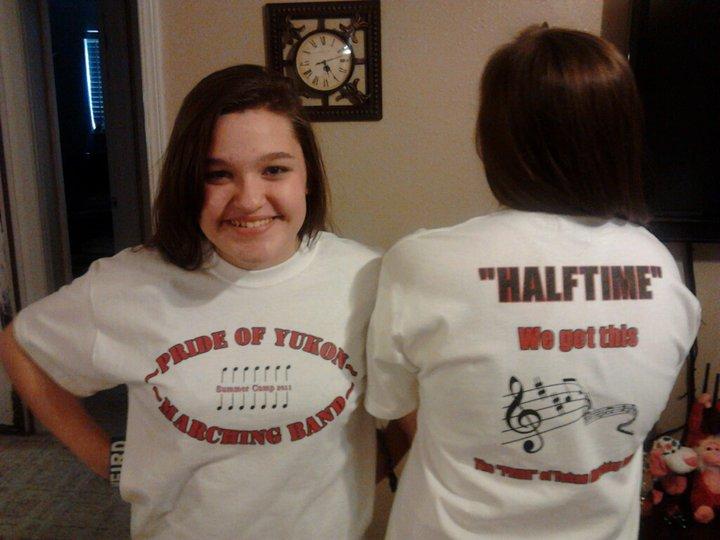 Custom T-Shirts for My 2 Band Girls - Shirt Design Ideas