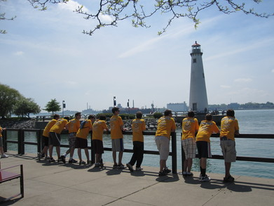Taking A Break At The Detroit River T-Shirt Photo