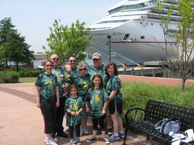Spence Family At Norfolk Cruise Terminal T-Shirt Photo