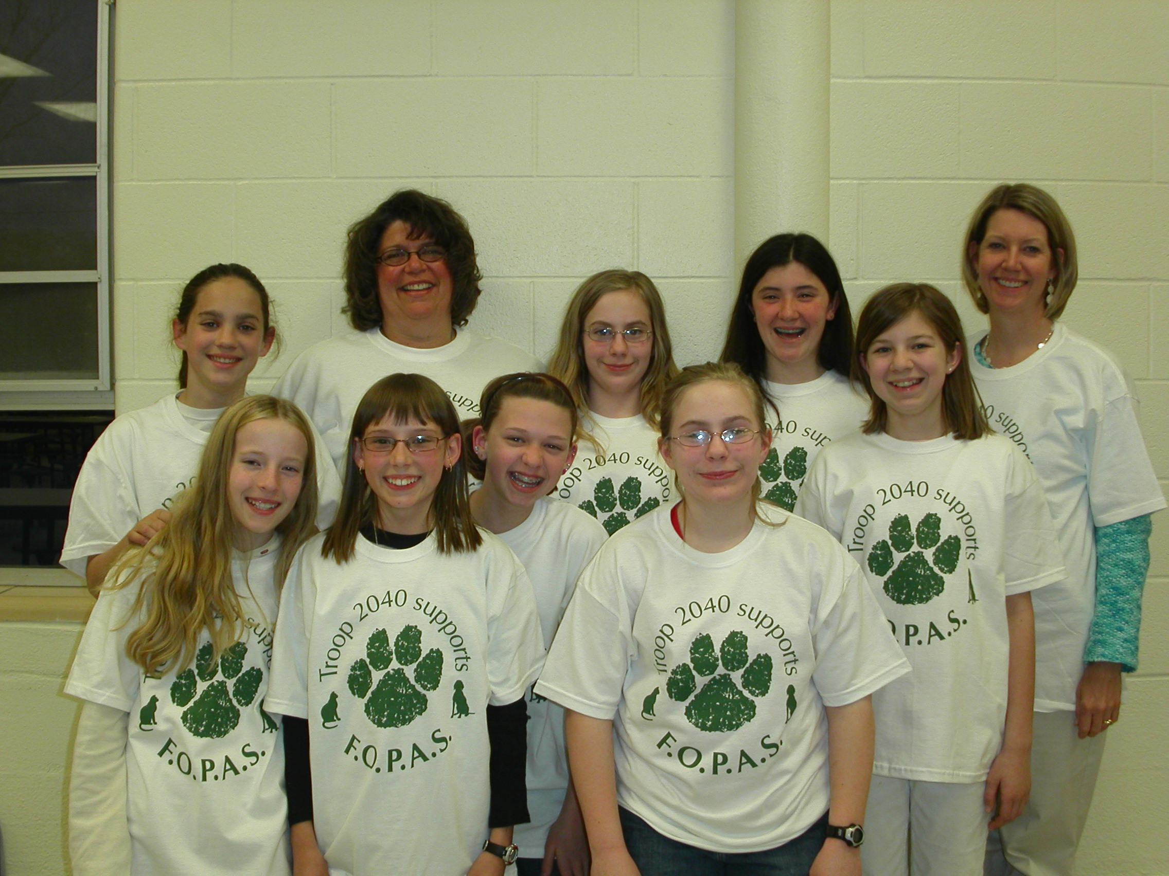 adc4bc434 Custom T-Shirts for Troop 2040 Helps Parkville Animal Shelter ...