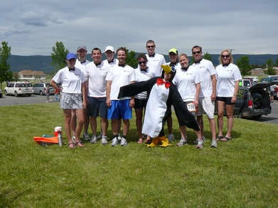 Wasatch Back 2011 Team Beware The Penguins T-Shirt Photo