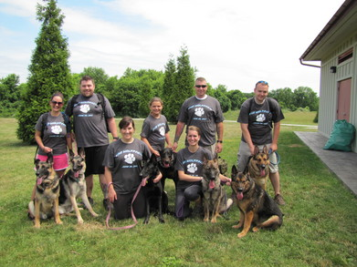 Team Wolf Pack At The Pspca Dog Walk 6/26/2011 T-Shirt Photo