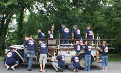 In Memory Of Fallen Firefighter T-Shirt Photo